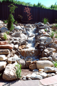 Large Full Flow Water Feature